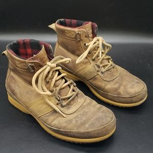 Sorel leather hiking work boots